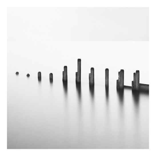 Amroth VI Black & white photograph (Giclée) by David Baker c. Artfinder.