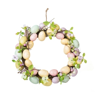 Easter Egg & Flowers Wreath - £30.00