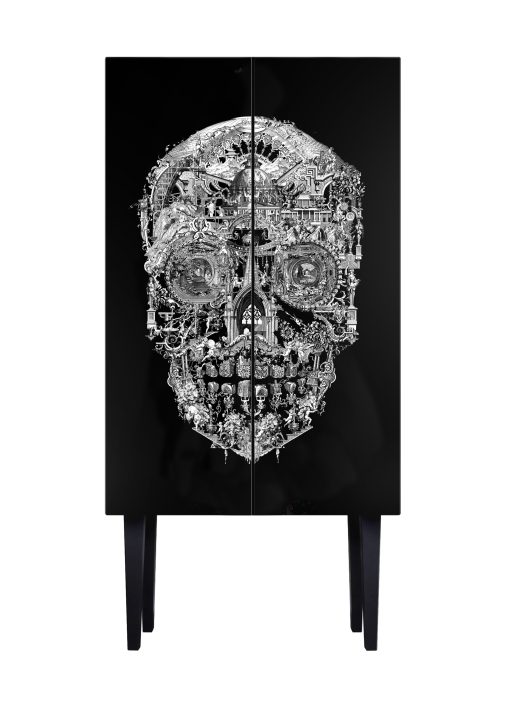 Sanctuary Skull Drinks Cabinet By Mineheart
