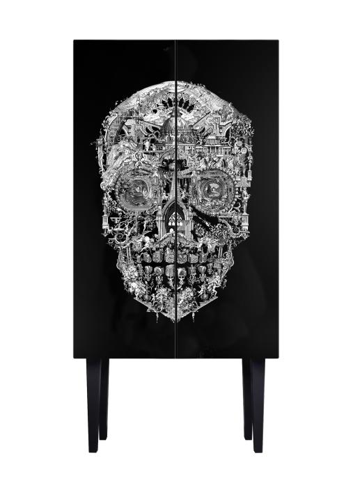Sanctuary Skull Drinks Cabinet By Mineheart